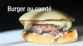 Le burger au comté, Maïté, par le food Truck « Chez Greg »