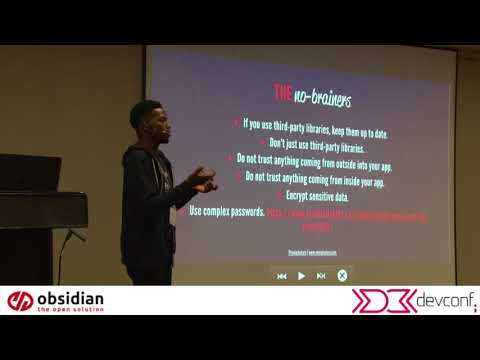 Neo Ighodaro - Building for the bad guys @ DevConf Johannesburg 2018