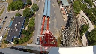 Dorney Park Steel Force Pov Hd Roller Coaster Front Seat Ride 2012 1080p Video Steel Hyper Gopro