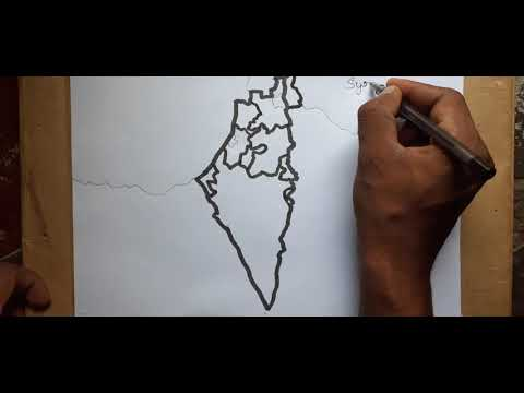 How To Draw Israel Map