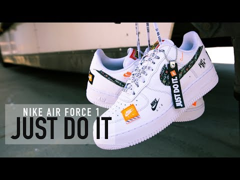purchase cheap ff0a8 264ee FIRST LOOK: Nike Air Force 1 'Just Do It' | SHIEKH - YouTube