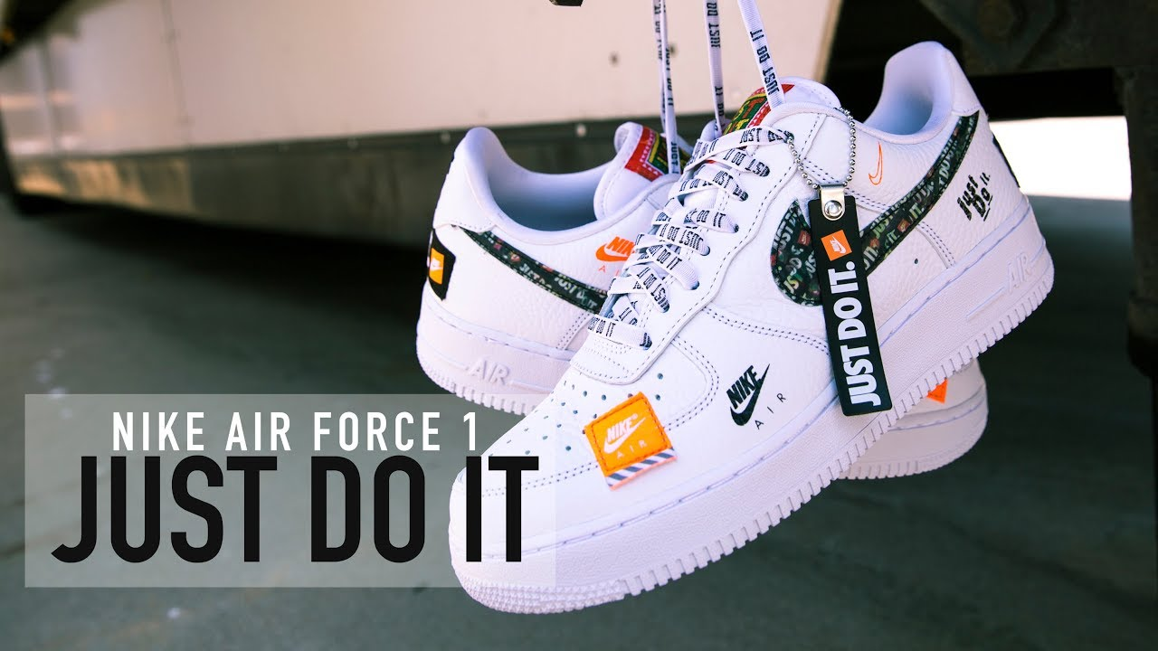 online retailer 01d3e dbebf FIRST LOOK: Nike Air Force 1 'Just Do It' | SHIEKH