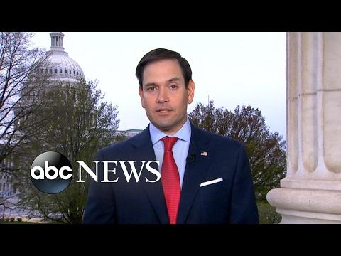 Sen. Marco Rubio reacts to US military strike in Syria