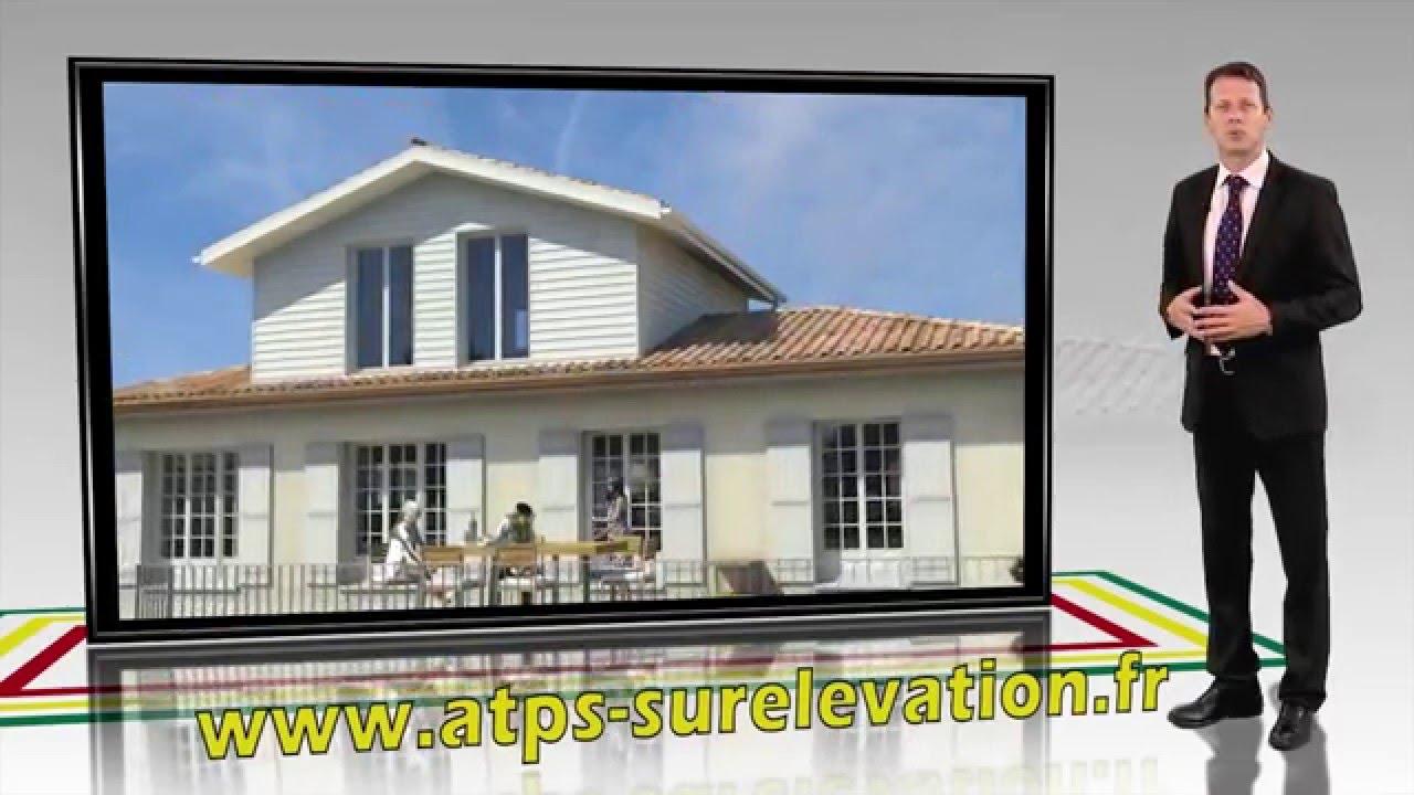 Surelevation Maison 33 surélévation en gironde par atps - ossature bois - youtube
