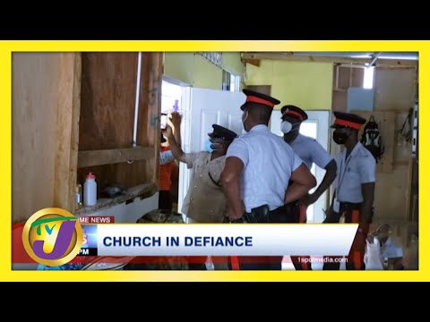 Police Swarm Church in Defiance of Covid Measures in Jamaica | TVJ News