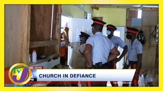 Police Swarm Church in Defiance of Covid Measures in Jamaica | TVJ News - March 3 2021