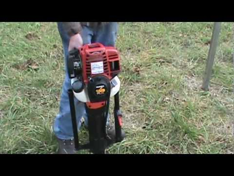 """Gas powered post driver $1195.00 by SKIDRIL 2-3/8"""" post! Gas powered T-post driver"""