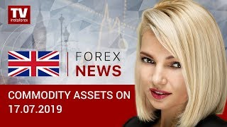 InstaForex tv news: 17.07.2019: Oil prices decline as concerns over US-Iran conflict ease (Brent, RUB, USD)