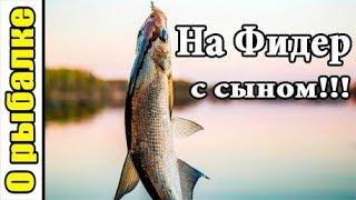Рыбалка на донку с кормушкой летом в жару с сыном,наловили подлещика и густеры