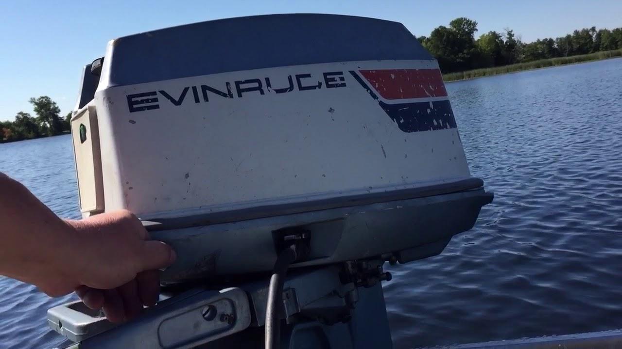 Evinrude 25 Hp >> 1975 Evinrude 25hp outboard motor - YouTube