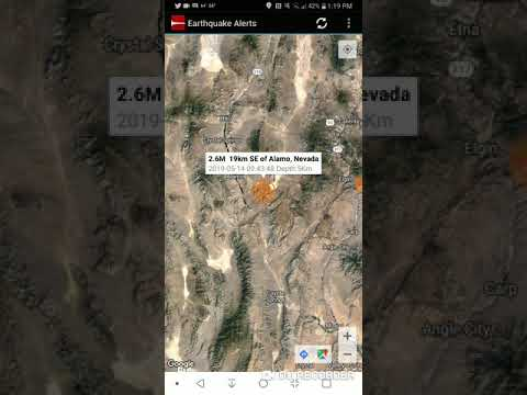 Alamo, Nevada Earthquake May 14th, 2019 - YouTube on