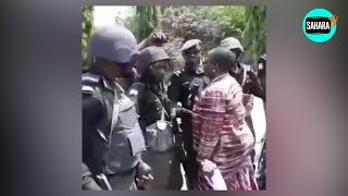 A Tense Encounter Between #BBOG Marchers And Nigeria Police Force  Officers At Aso Rock Villa Gate