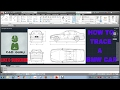 how to tracing BMW car image  in auto cad ( HINDI )