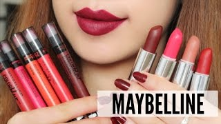 [SWATCH + REVIEW] MAYBELLINE CREAMY MATTE LIP COLOR & COLOR BLUR LIP PENCIL (WITH CC ENGSUB)