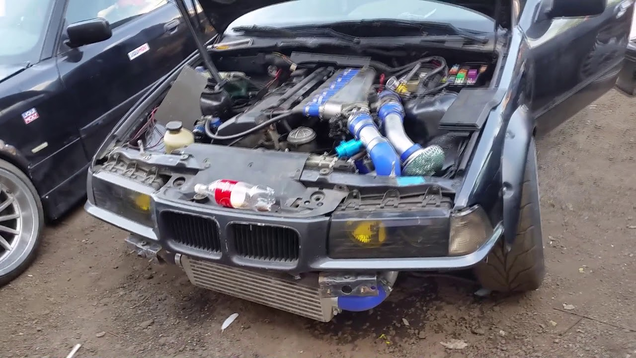 E36 M50B25NV + Eaton M62 New Exhaust Sound Check turbobmw pl