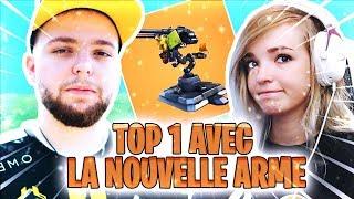 TOP 1 AVEC LA NOUVELLE ARME TOURELLE DEPLOYABLE SUR FORTNITE ft. Robi et Ratila