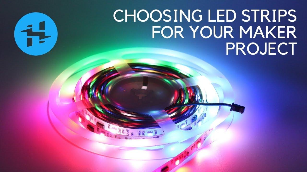 Choosing LED Strips (Non-Addressable vs  NeoPixels) // LEDs for Makers, Pt   1