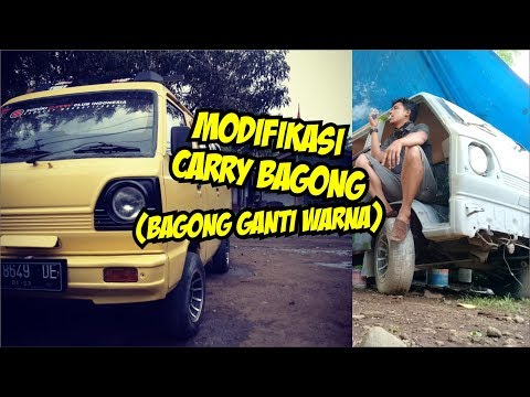 MODIFIKASI SUZUKI CARRY BAGONG - CAT ULANG CARRY BAGONG - AUTONGAPAK GARAGE REPAINT CAR