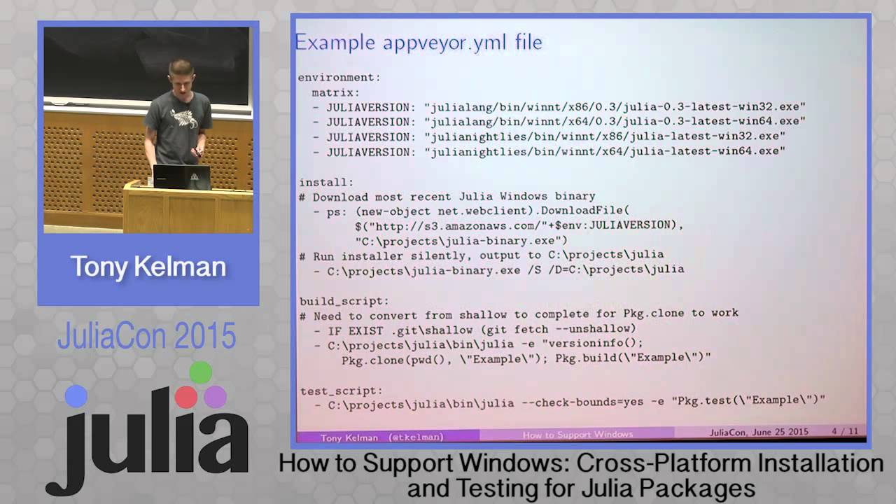 Tony Kelman: How to Support Windows - Cross platform installation and  testing of packages