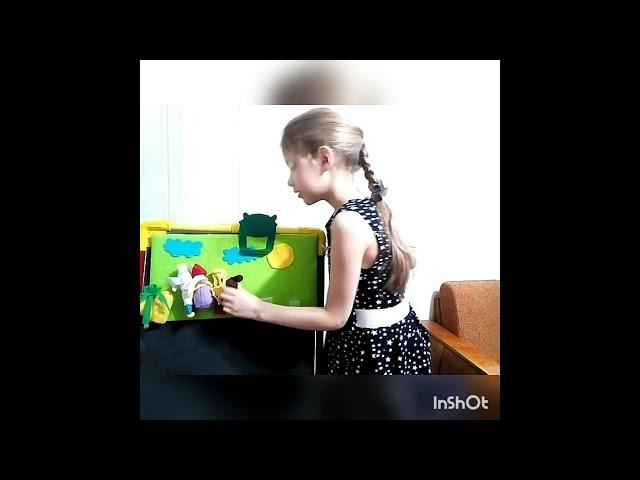 Изображение предпросмотра прочтения – ВарвараХабарова читает произведение «Русская народная сказка Репка» (Русский фольклор )