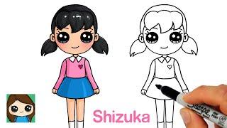 How to Draw Shizuka Easy | Doraemon