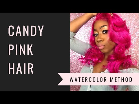 PINK HAIR FOR BROWN GIRLS | WATERCOLOR METHOD USING ADORE DYE