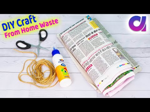 Best use of waste Newspaper and balloon craft ideas | Best o