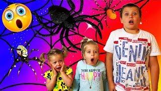 Дети плохо себя ведут и поэтому появляются тарантулы и тараканы!