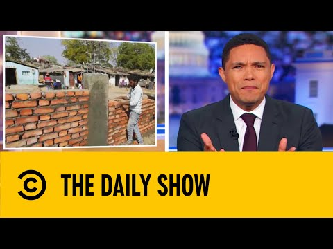 India Built A Wall To Hide A Slum From Trump | The Daily Show With Trevor Noah