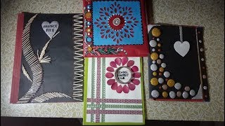 Diy 4 beautiful file design ideas/Practical file cover/Easy file decoration ideas for school project