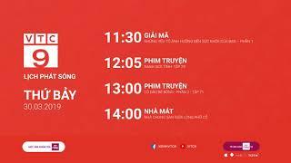 Lịch phát sóng VTC9 ngày 30/03/2019