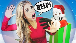 Christmas in Giant SNOW GLOBE for 24 Hours! (Gone Wrong) | Rebecca Zamolo