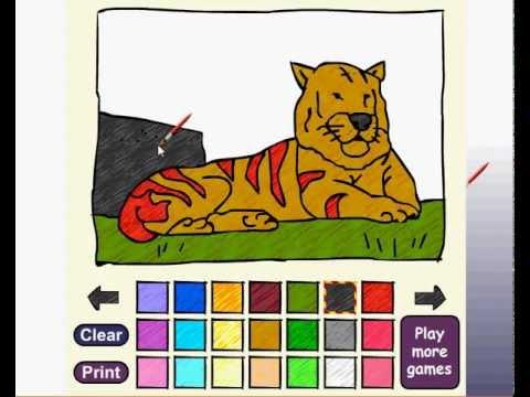 วีดีโอการเล่นเกม Animal Painting ระบายสีสัตว์