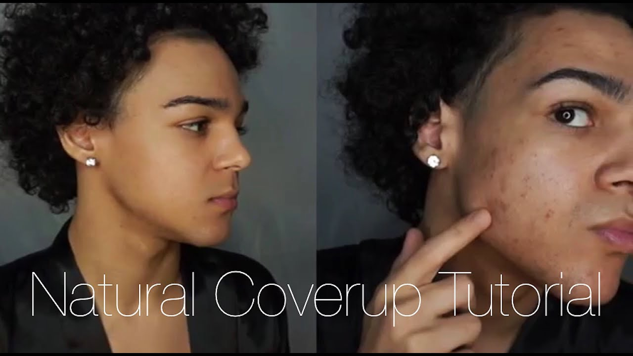 UPDATED Men's Natural Make Up Tutorial (ACNE COVERUP ) l Justin Marcus