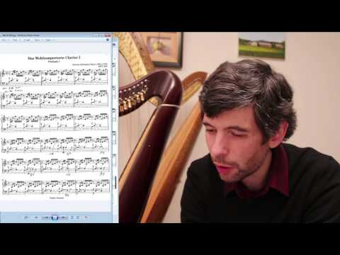 Figuring out lever changes for Bach's, Prelude No. 1 on the harp (Harp Tuesday, episode 69)