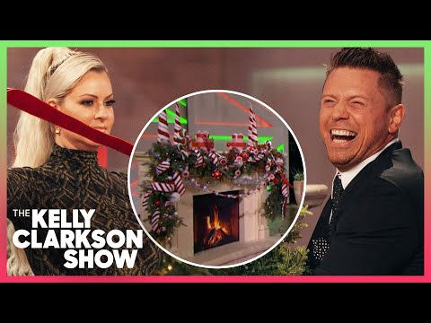 The Miz & Maryse Mizanin Try Decorating A Christmas Fireplace