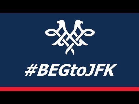 #BEGtoJFK Inaugural flight of Air Serbia to New York