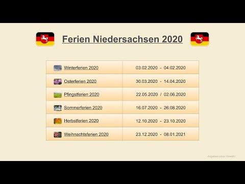 Ferien niedersachsen 2021