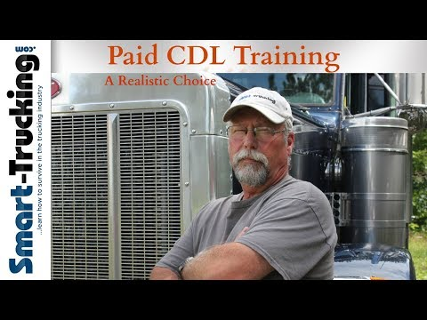 Why Company Sponsored CDL Training Is A Good Way To Get Your Truck Driver Training