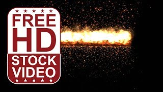 Free Stock Videos – Visual Effects fire burning with sparkles on black background 2D