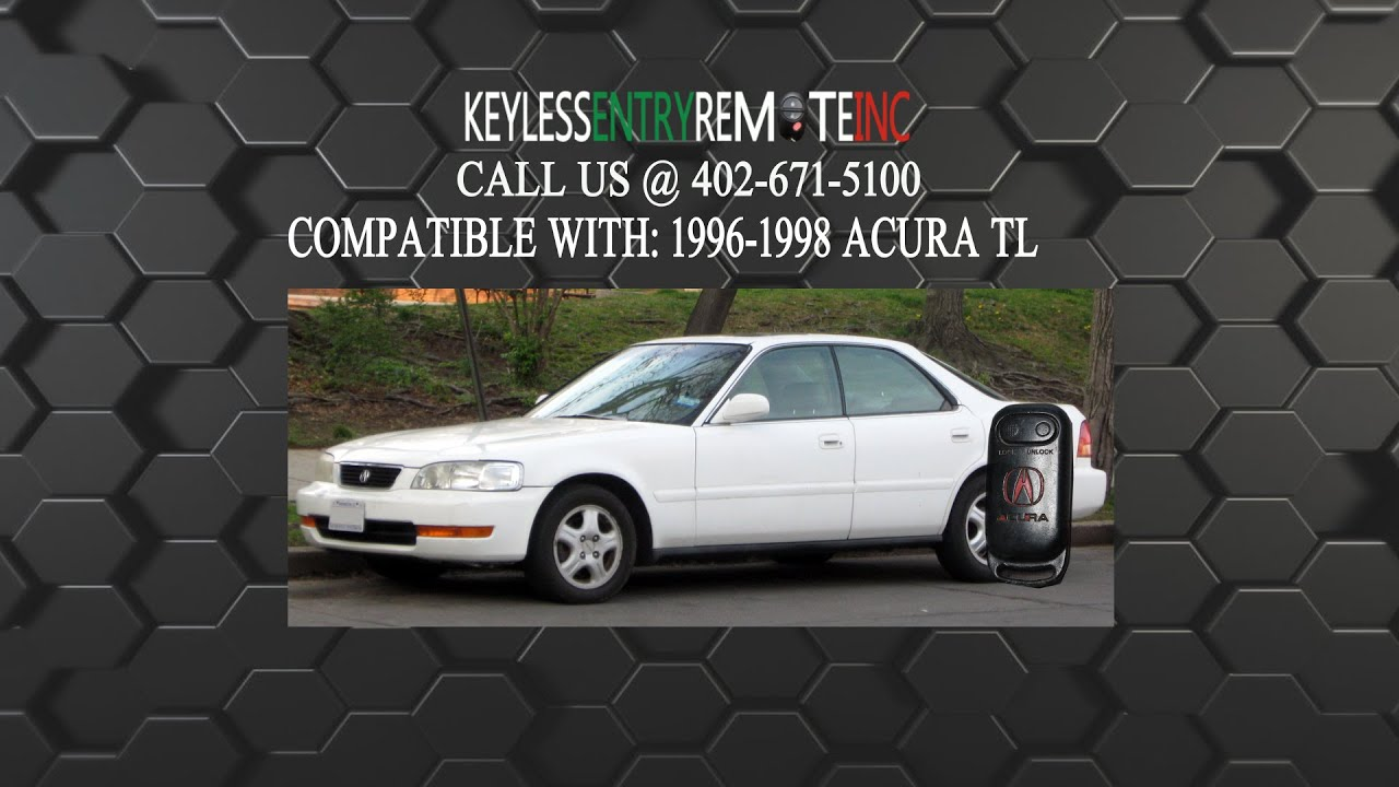 how to replace acura tl key fob battery 1996 1997 1998 youtube