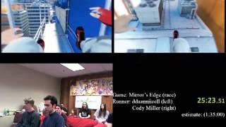 Mirror's Edge Speed Run Race  1:11:46  - Agdq 2012