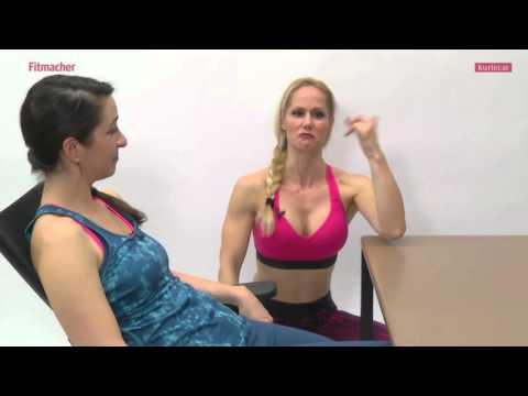 Die Fitmacherinnen Die Richtige Sitzhaltung Youtube