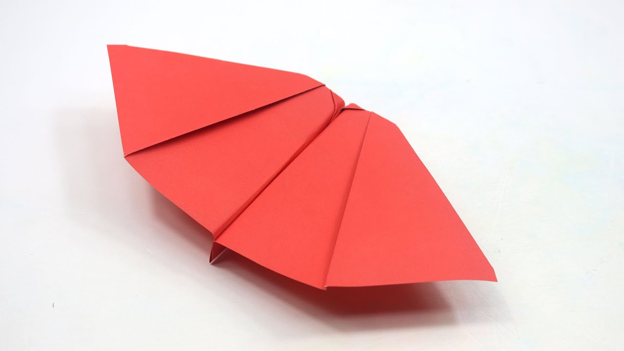 How to make a paper plane fly like a bat | Flapping wings paper bat