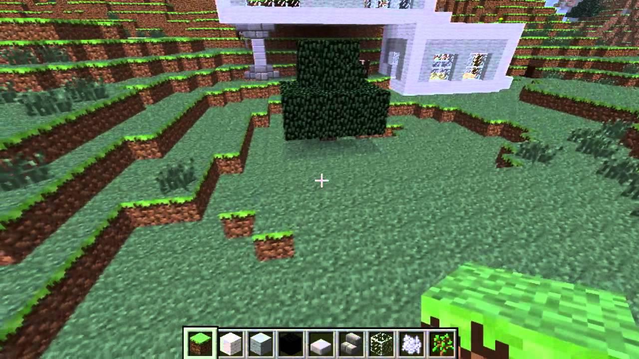 Minecraft construction d 39 une maison moderne sur flanc de montagne ep3 - Construction minecraft maison ...