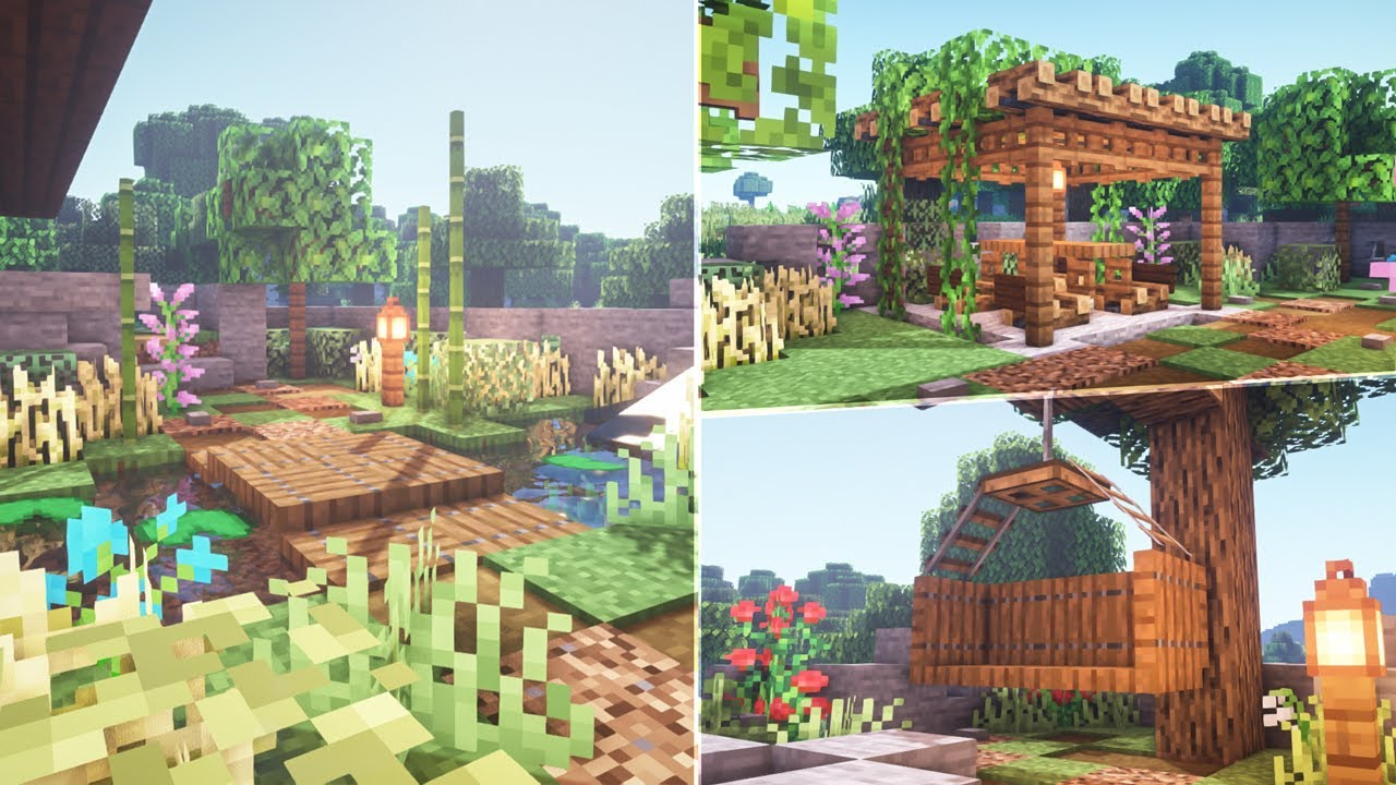 Minecraft How To Transform Your Garden Youtube