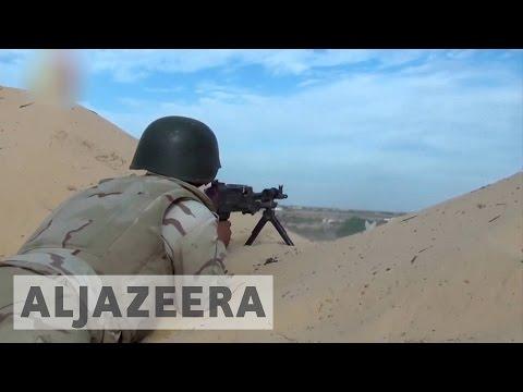 Roadside bombs kill 10 Egyptian soldiers in Sinai