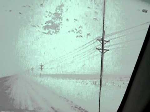 crazy driving in nebraska telephone wires