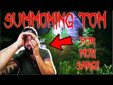 (TOM) OUIJA BOARD SUMMONING TOM THE GHOST FOR MOE SARGI | HAUNTED HOUSE