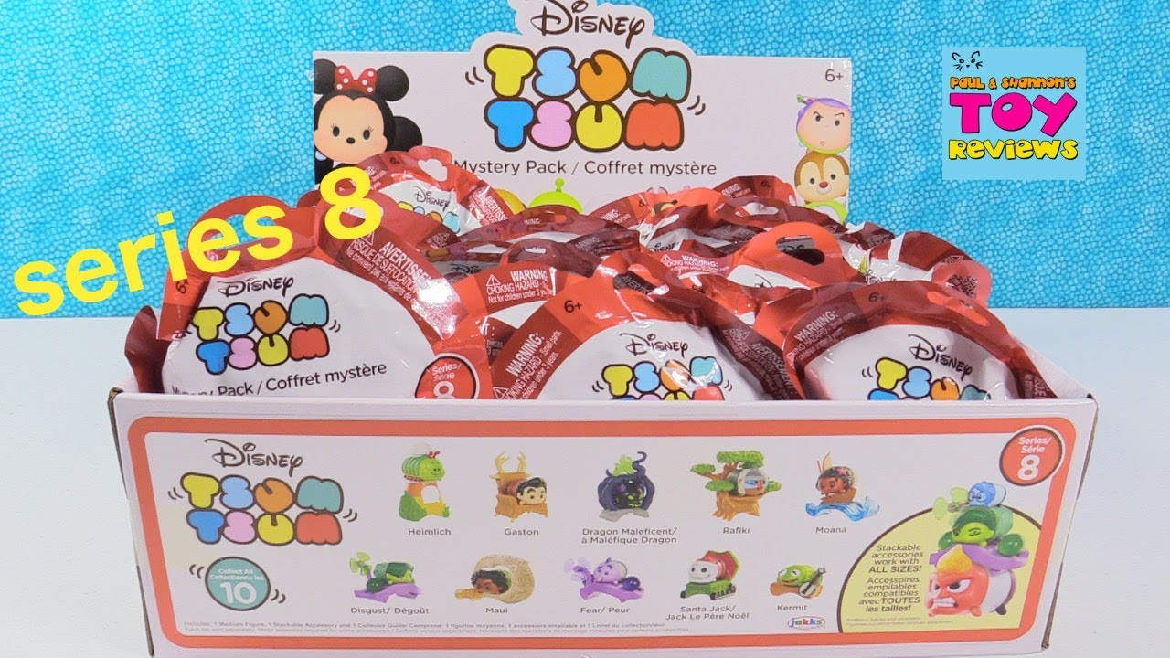 Disney Tsum Tsum Series 8 Mystery Pack Full Box Toy Review